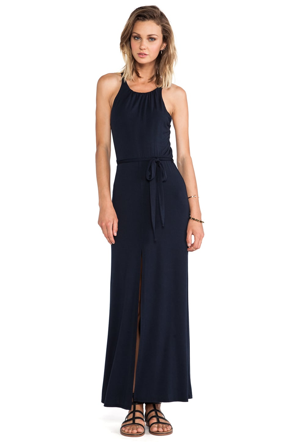 krisa Halter Maxi Dress in Black