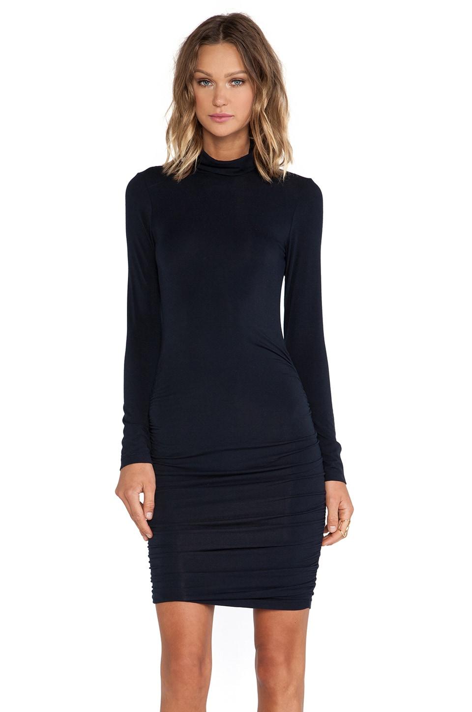krisa Long Sleeve Turtleneck Dress in Black