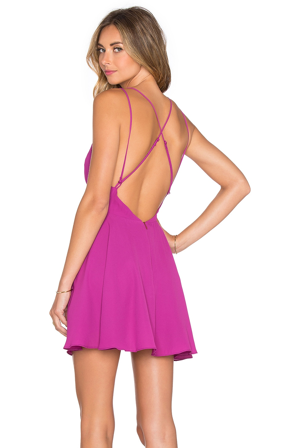 krisa Cross Back Mini Dress in Huckleberry