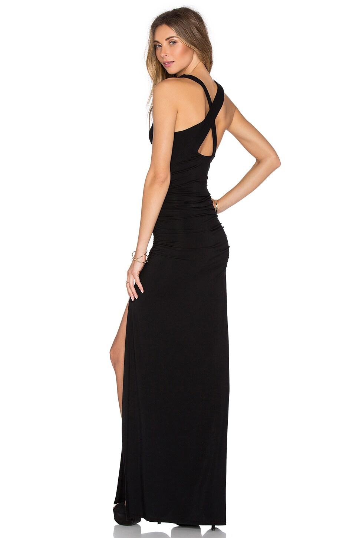 krisa Open X-Back Maxi Dress in Black