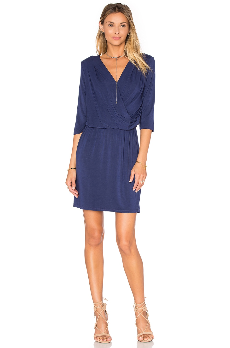 Deep V Surplice Dress by krisa