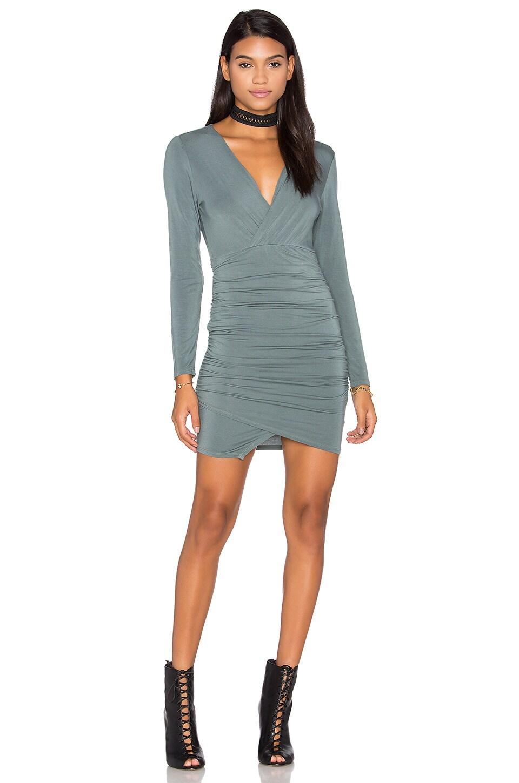 Asymmetrical Surplice Mini Dress by krisa