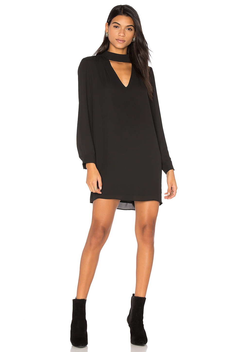 Cutout Turtleneck Mini Dress by krisa