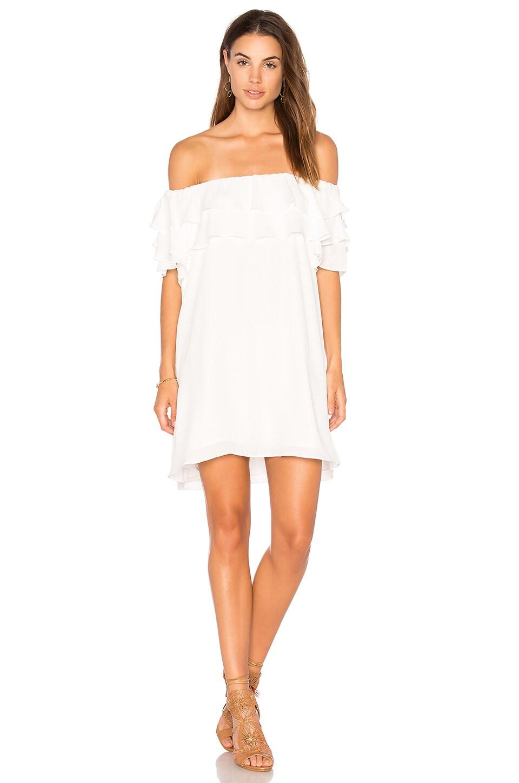 Off Shoulder Ruffle Dress by Krisa