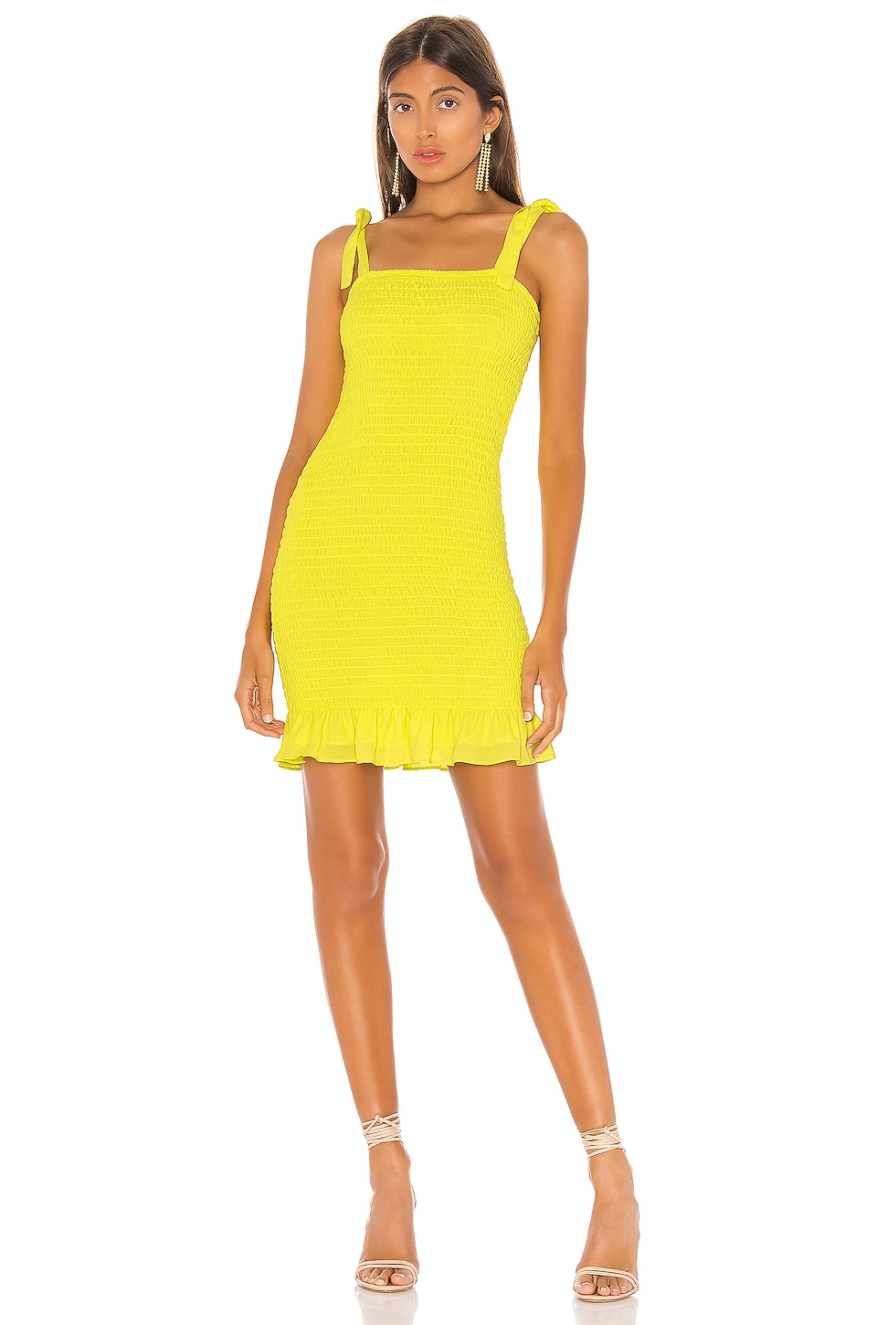 krisa Smocked Tank Mini Dress in Daffodil