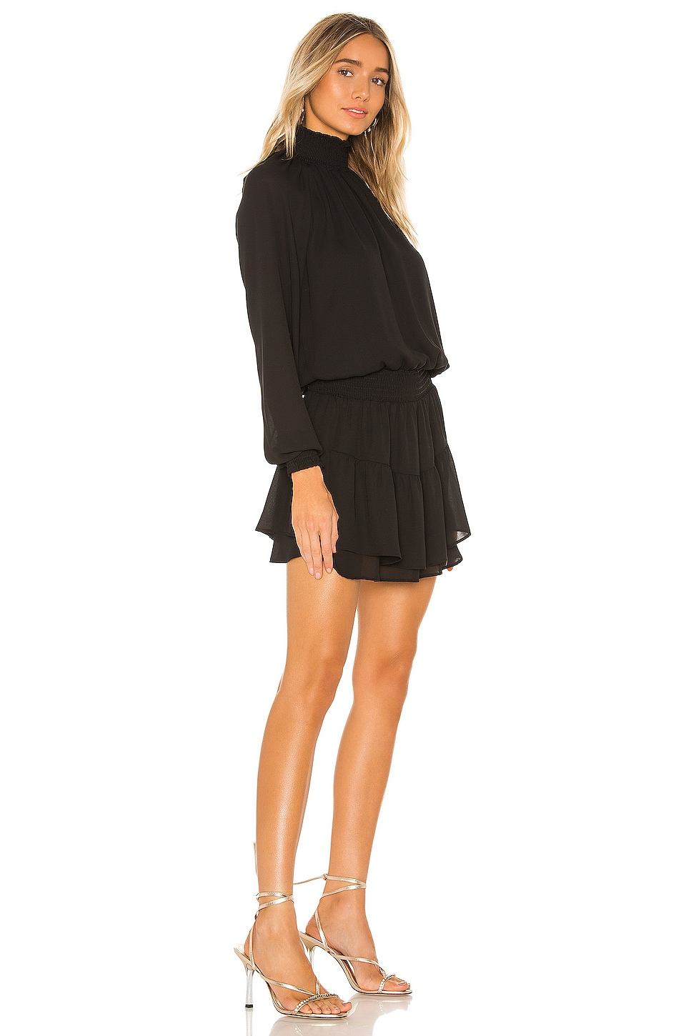 X REVOLVE Smocked Turtleneck Dress, view 2, click to view large image.