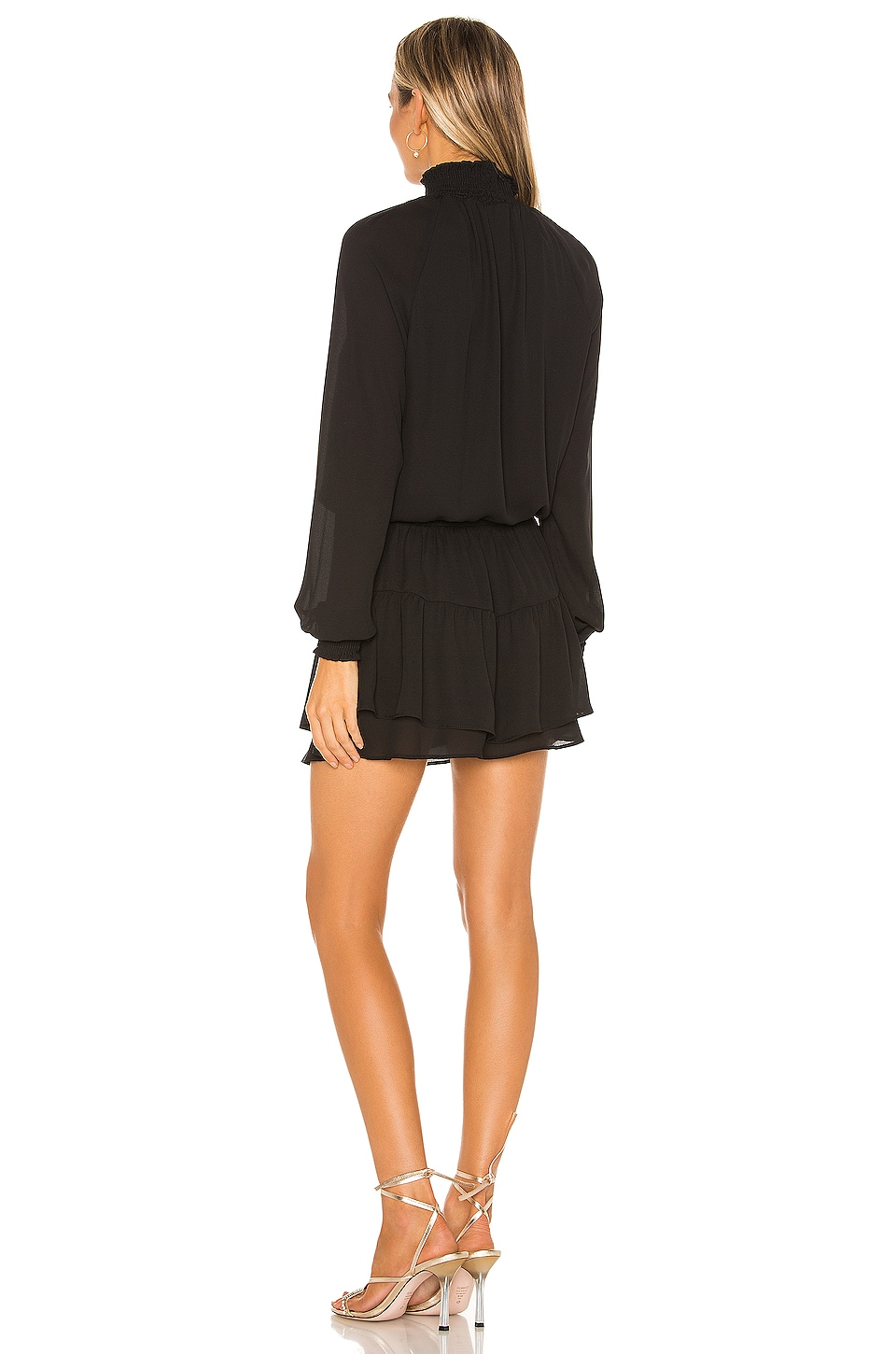 X REVOLVE Smocked Turtleneck Dress, view 3, click to view large image.