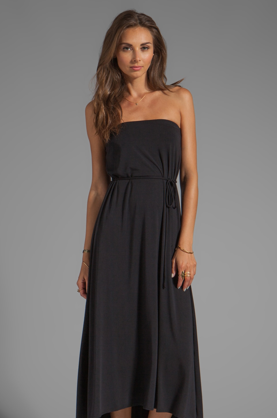 krisa Tube Maxi Dress in Black