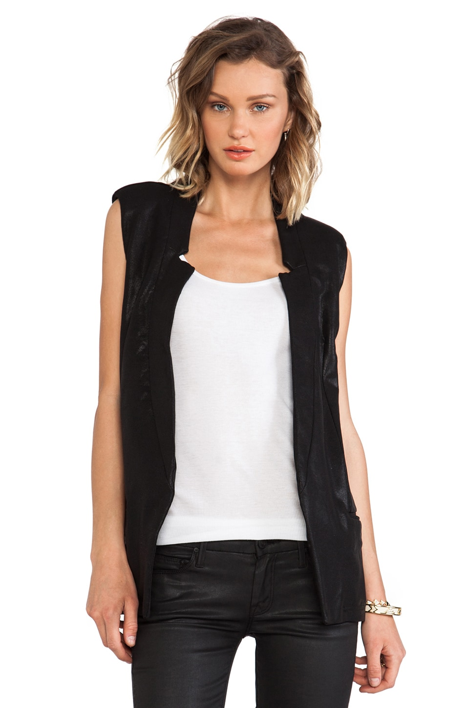 krisa Tunic Vest in Black