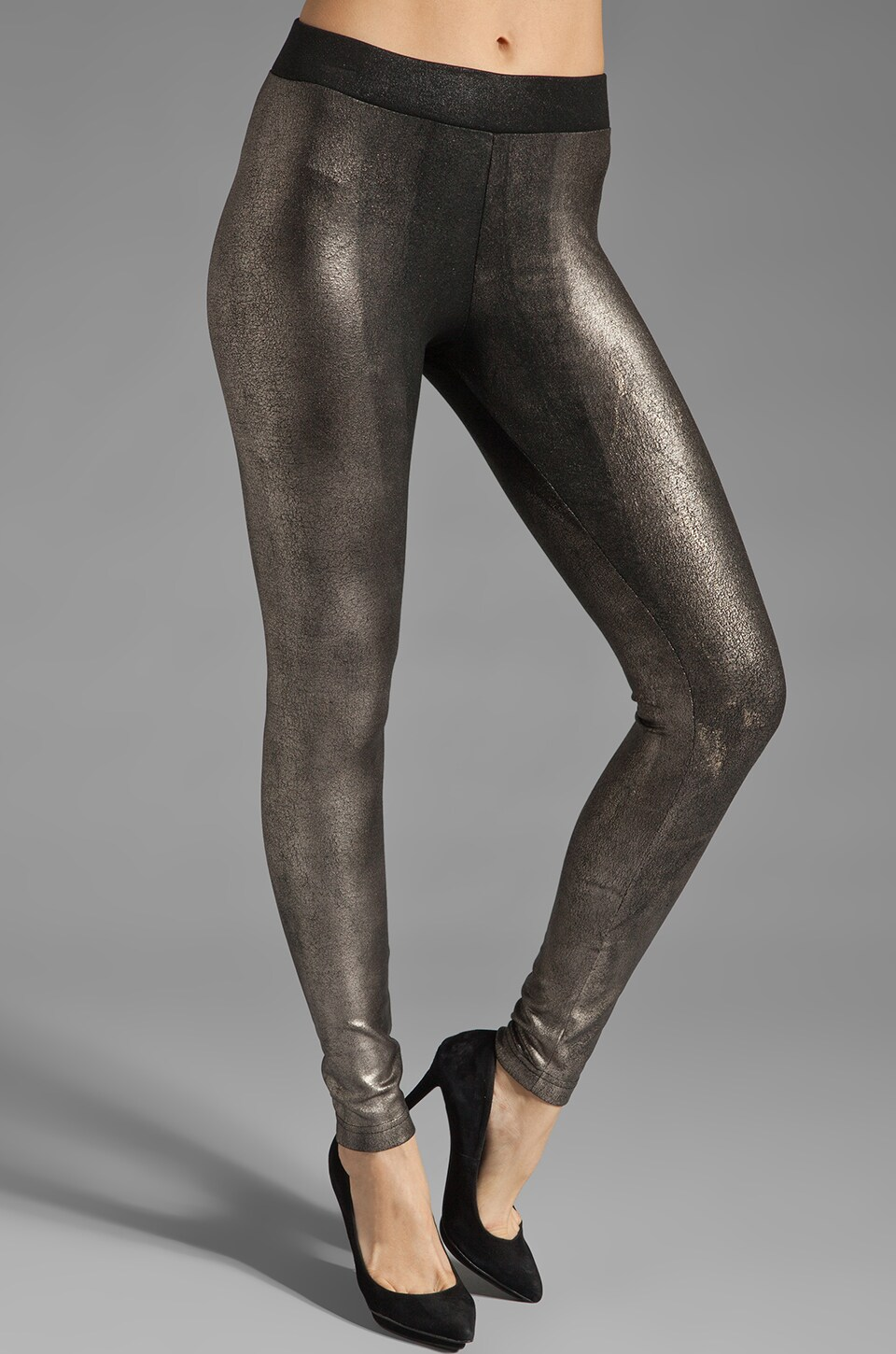 krisa Coated Legging in Foil