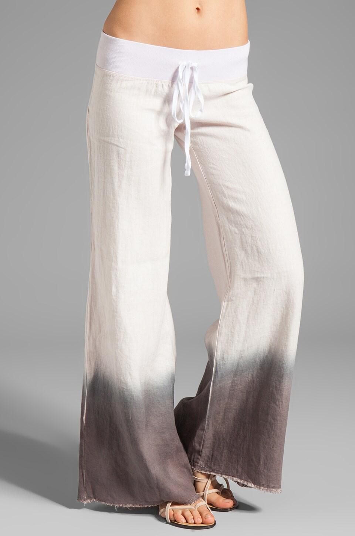 krisa Wide Leg Linen Pant in Dip Dye