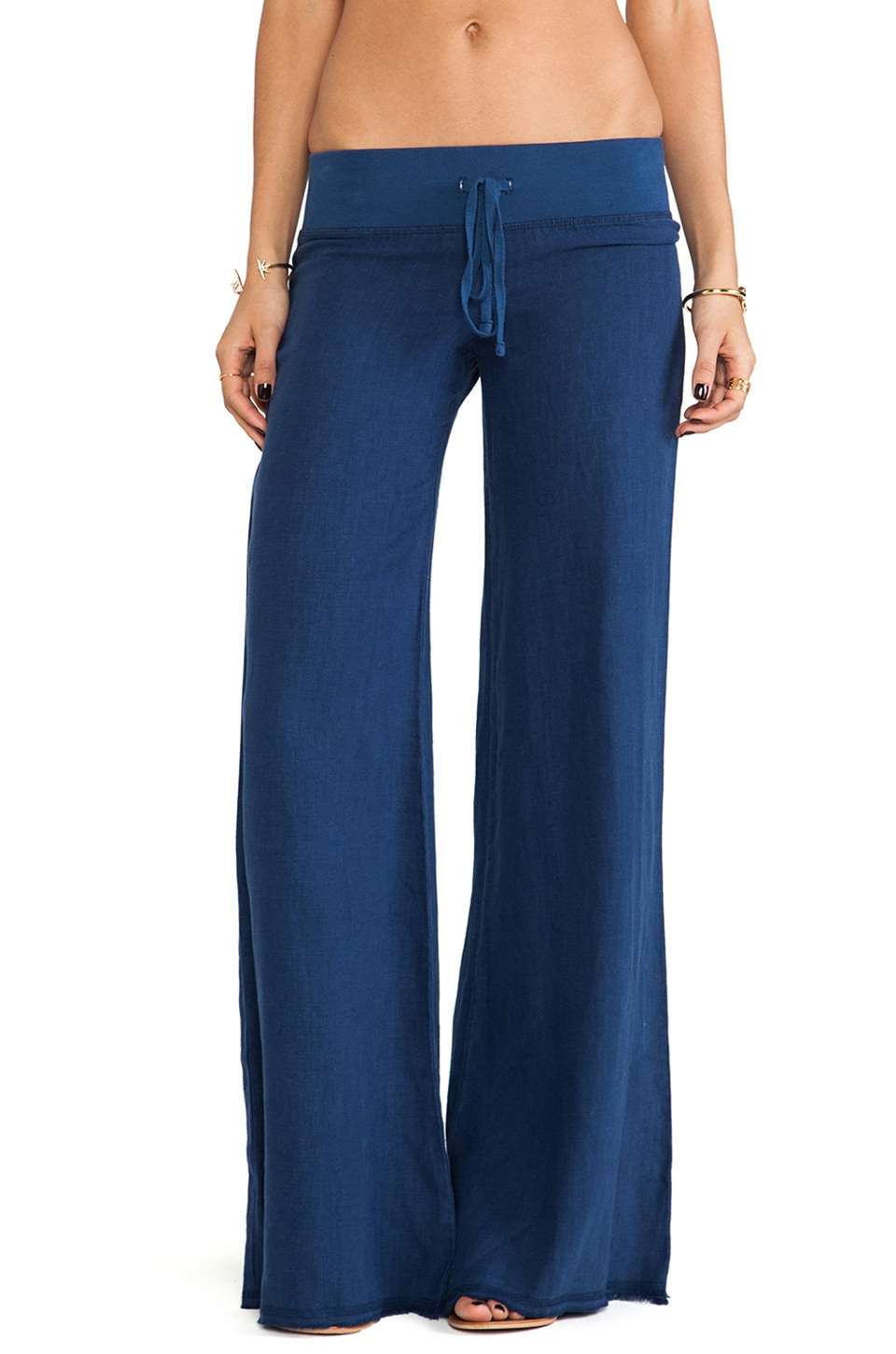 krisa Wide Leg Pant in Navy