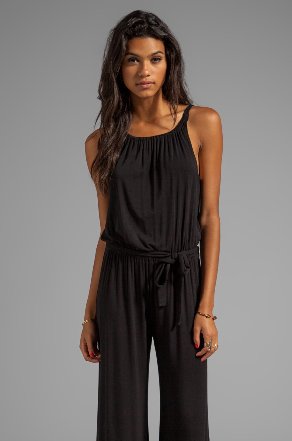 krisa Wide Leg Jumpsuit in Black
