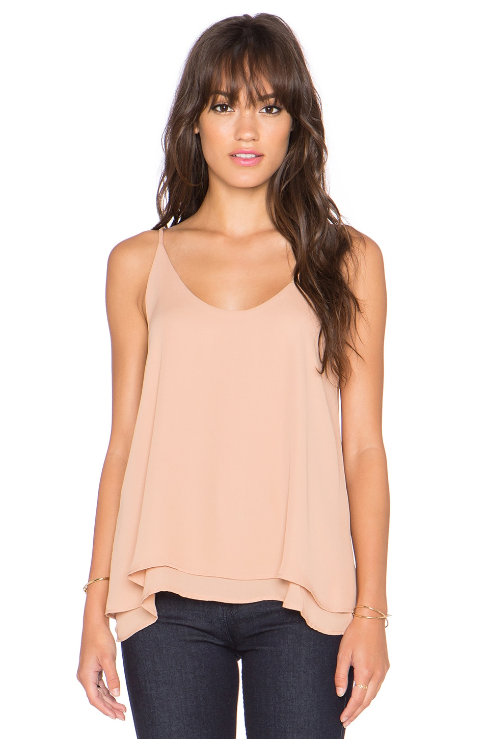 krisa Double Layer Cami in Chloe