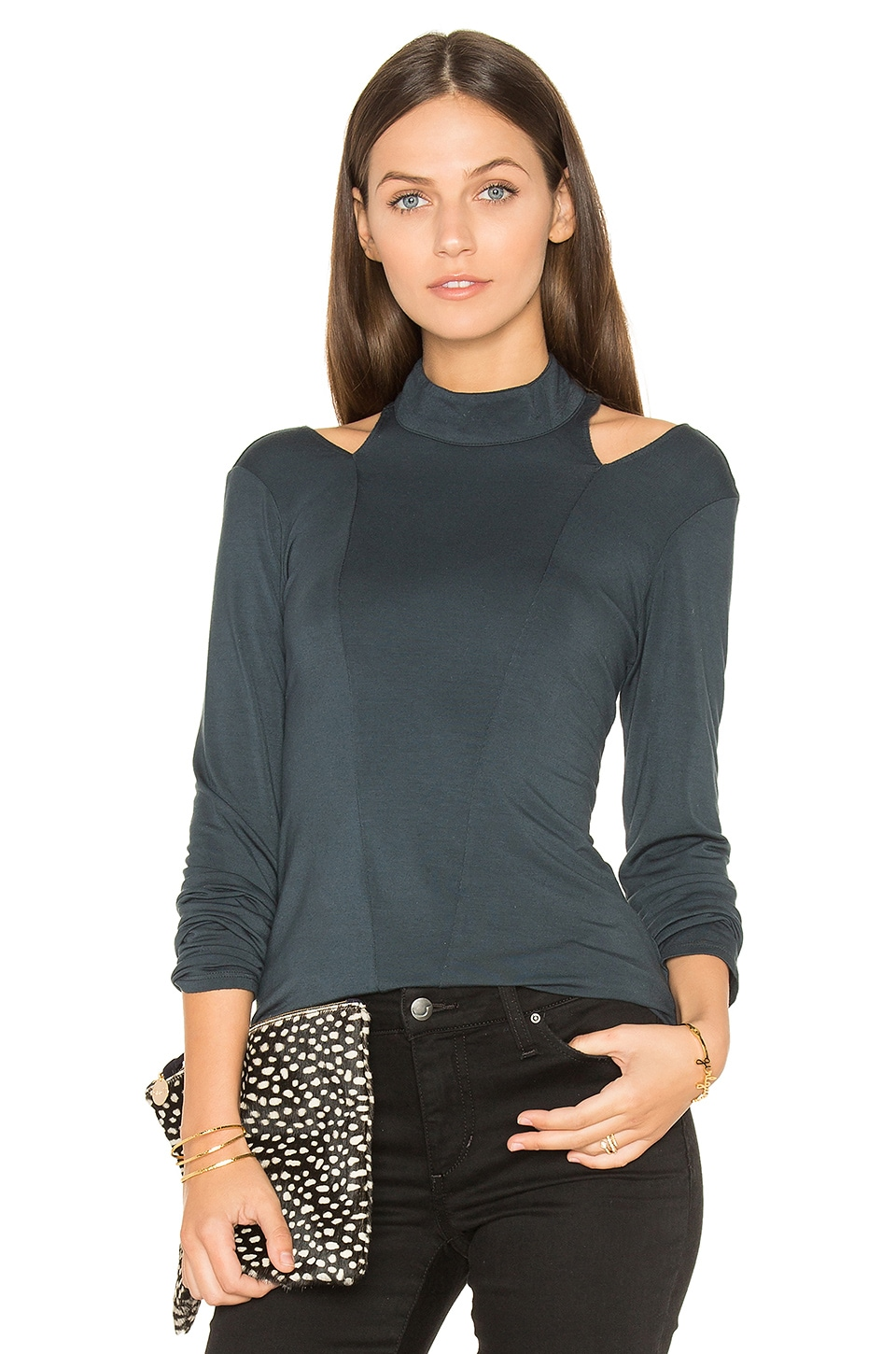 Cutout Turtleneck Top by krisa