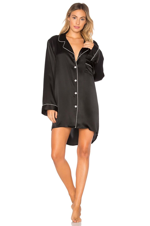 KISSKILL Silk Sleep Shirt in Black