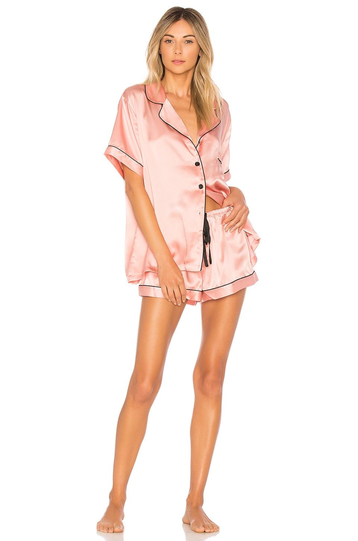 KISSKILL Silk Short Pajama Set in Blush