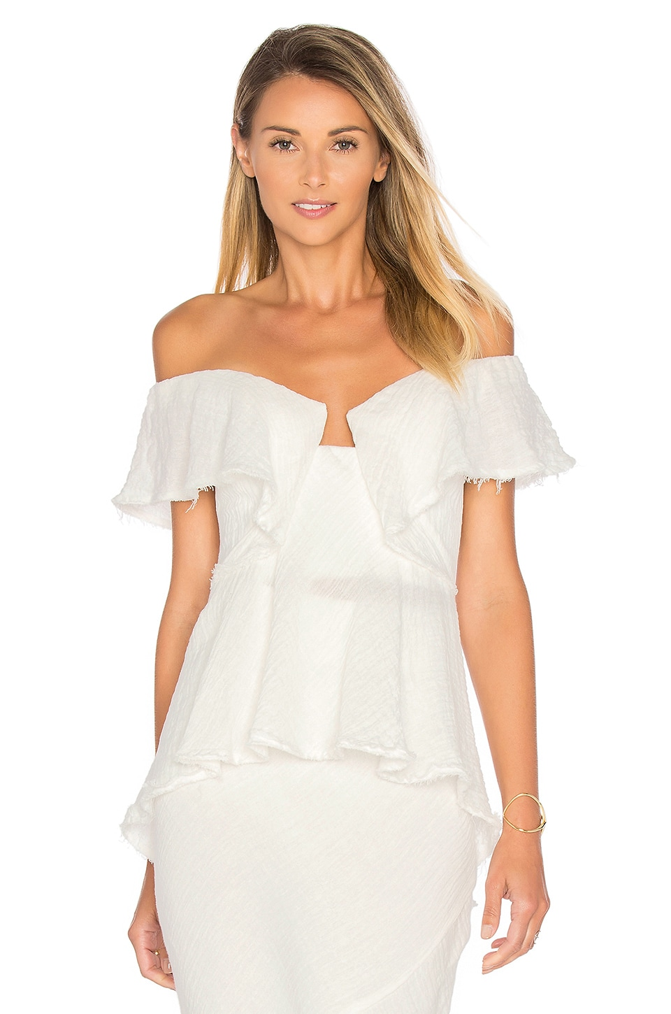 Strapless Flounce Top by KITX