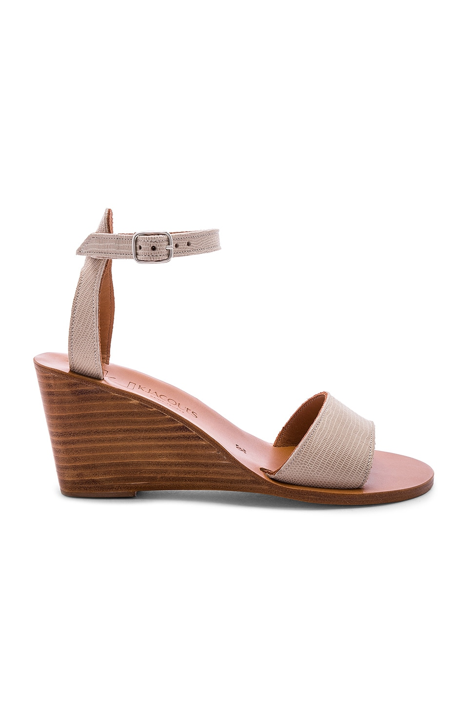 K Jacques Sardaigne Wedge in Tejus Sable