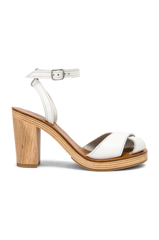 K Jacques Figuier Sandal in Pul Blanc
