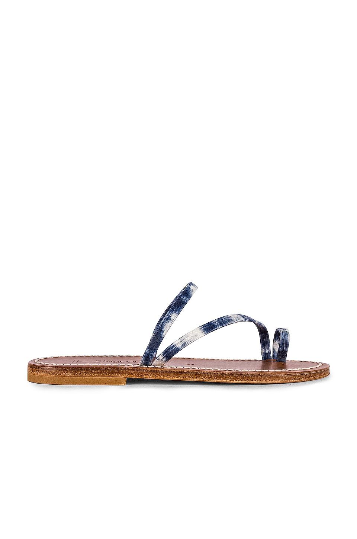 K Jacques Actium Sandal in Arat Bleu
