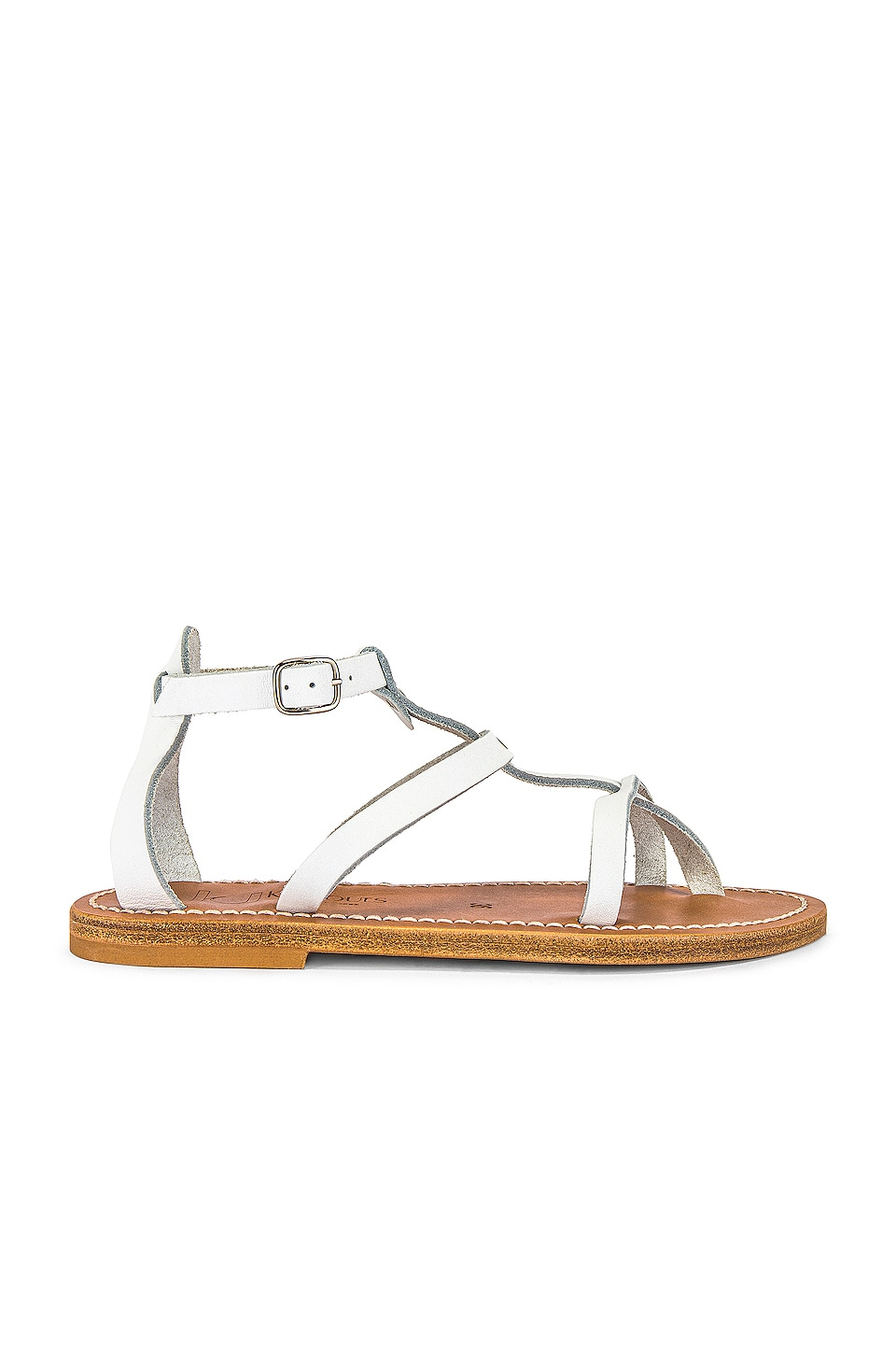 K Jacques Antioche Sandal in Pul Blanc