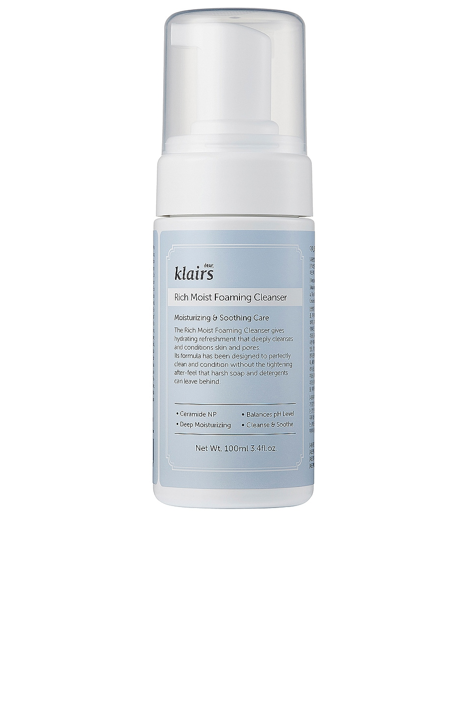 Klairs NETTOYANT RICH MOIST FOAMING CLEANSER