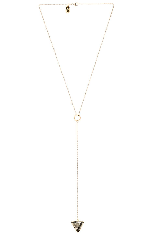 Karen London Zodiac Lariat Necklace in Pyrite & Gold