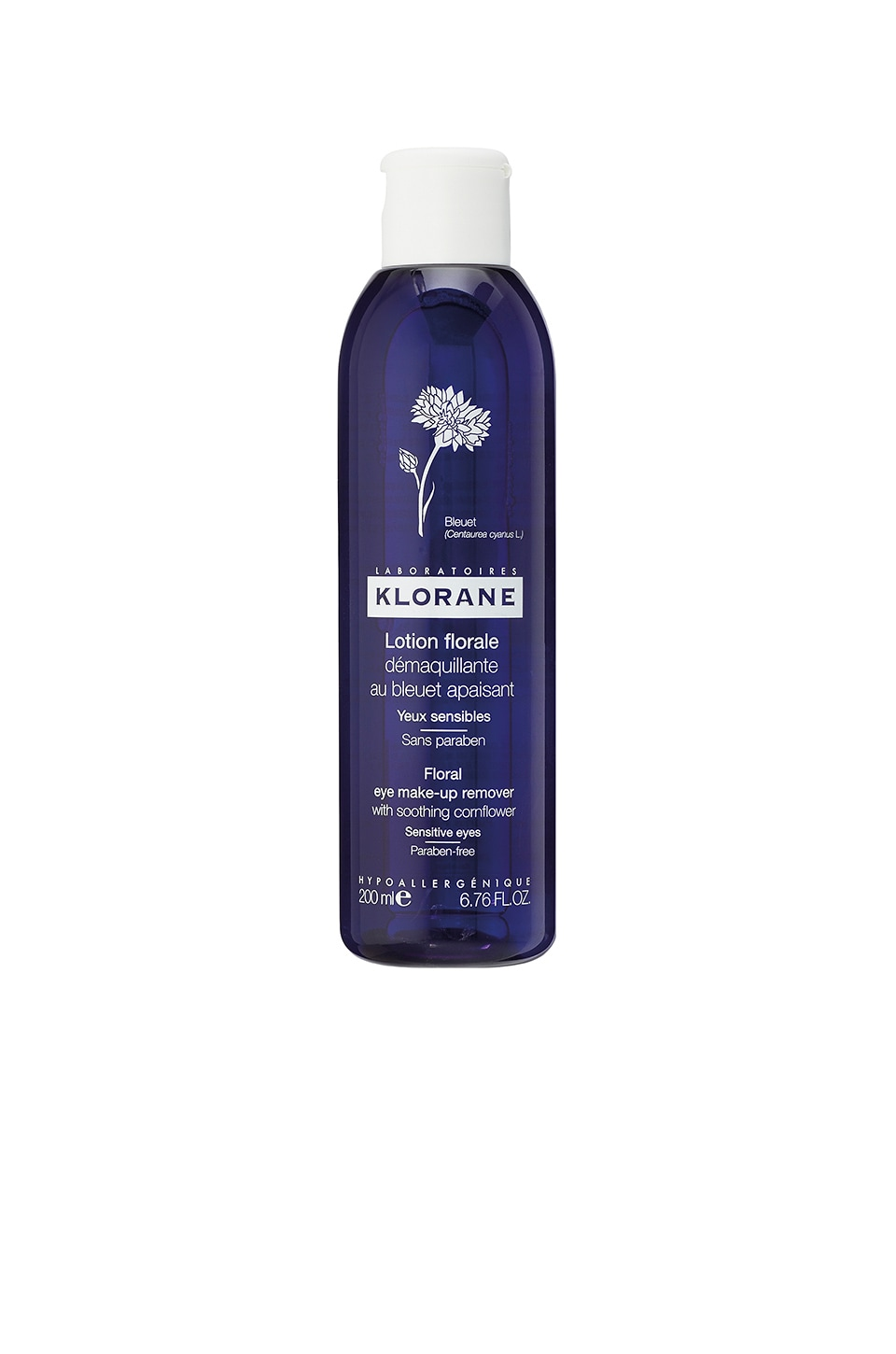Floral Eye Make-up Remover with Soothing Cornflower