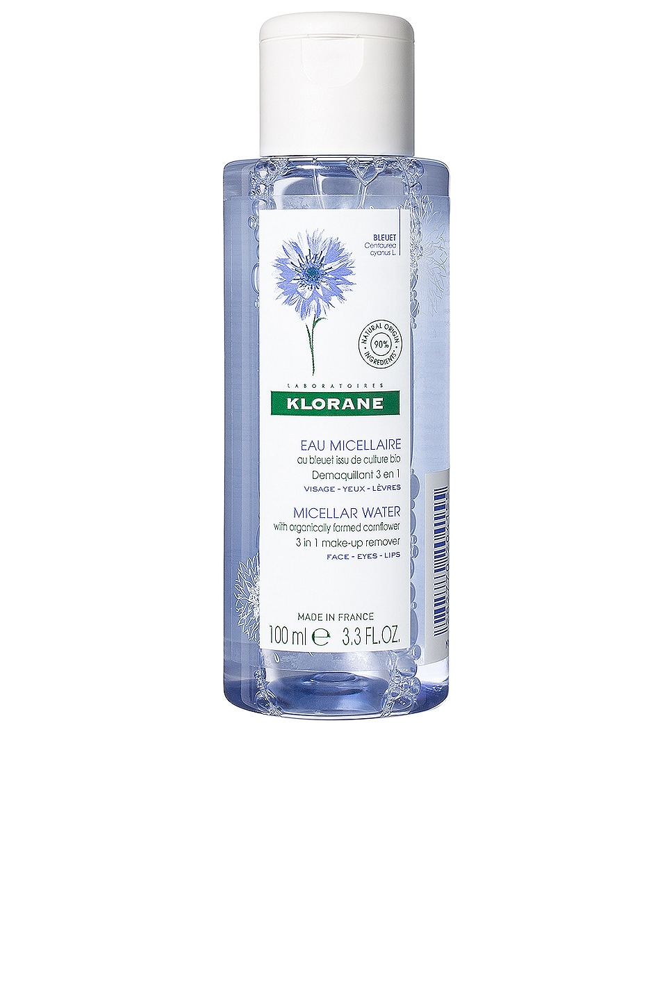 Travel Floral Water Make-up Remover with Soothing Cornflower
