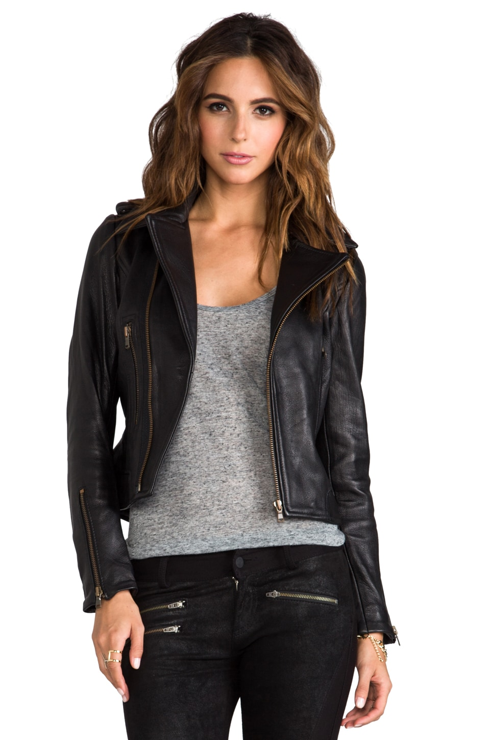 KENNA-T Zip Moto in Black