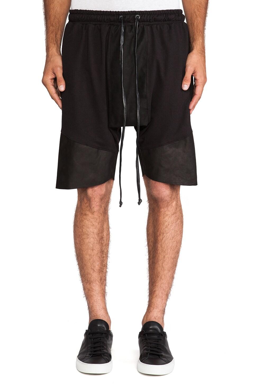 Daniel Patrick Roaming Jogger Shorts in Black
