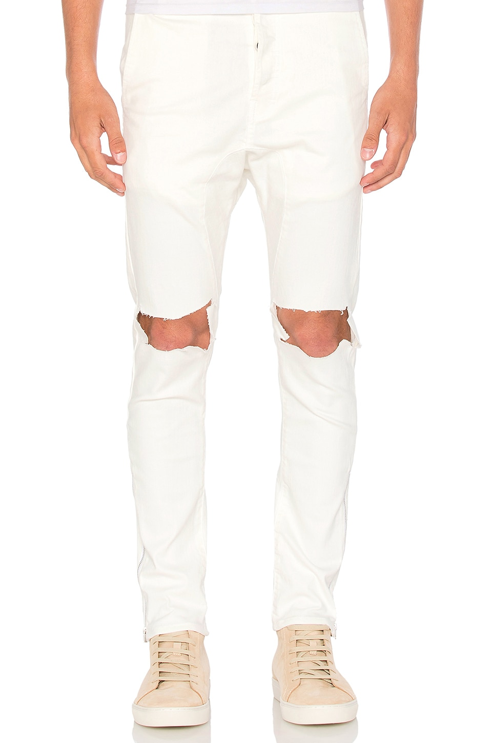 Low Crotch Ripped Skinny Jean by Daniel Patrick