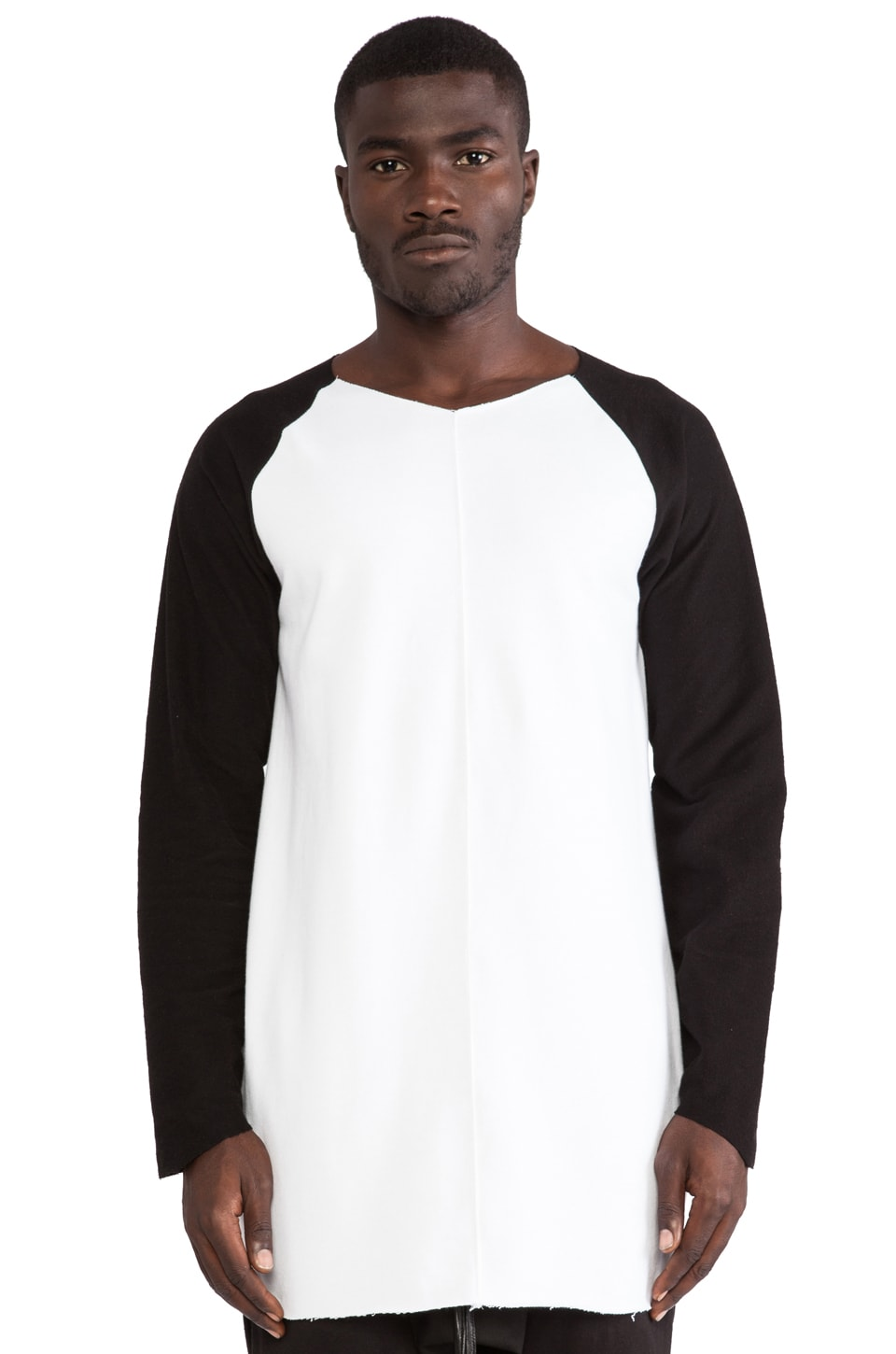 Daniel Patrick Sweatshirt in Black/ White
