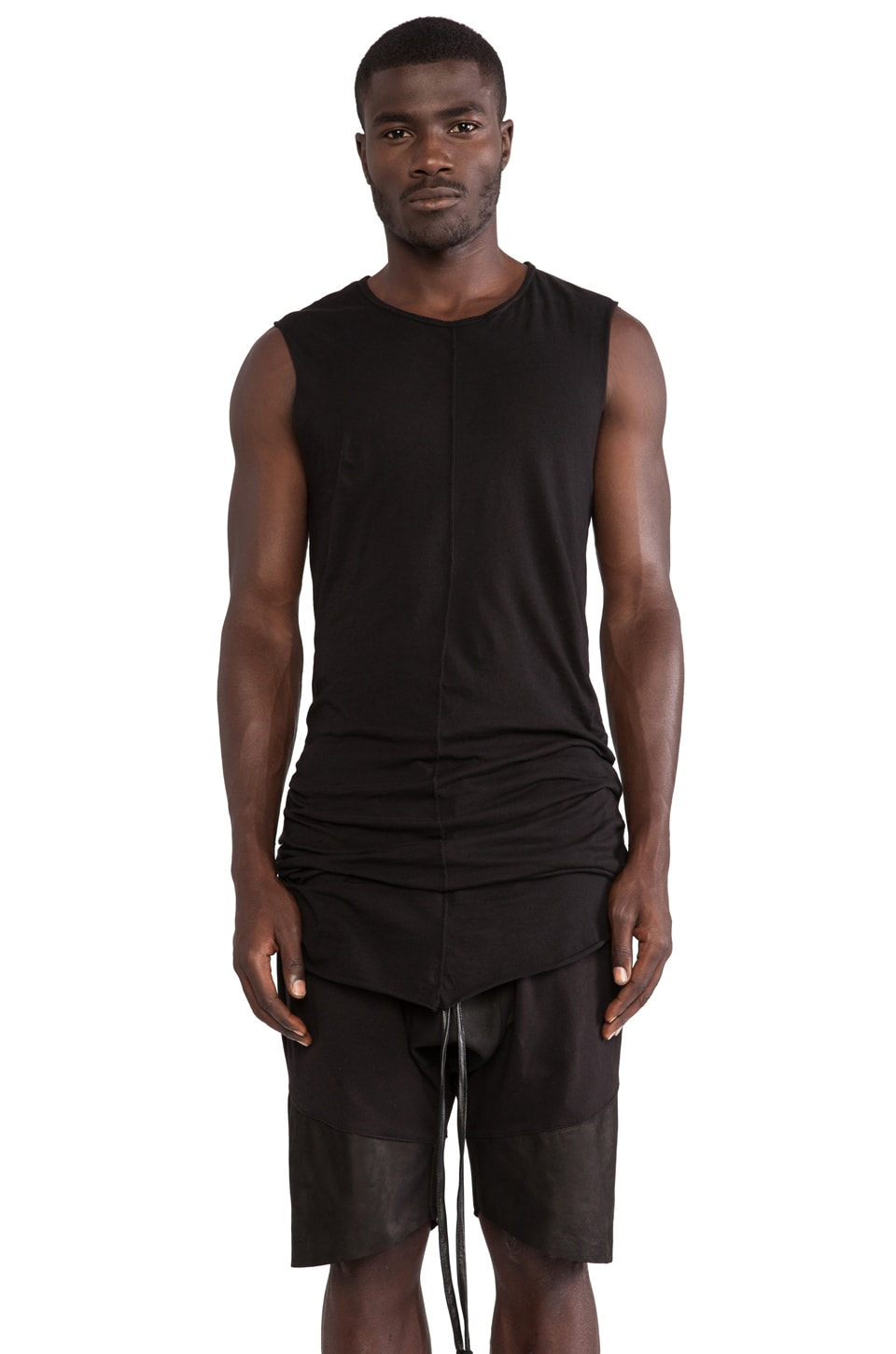 Daniel Patrick Muscle Tee in Black