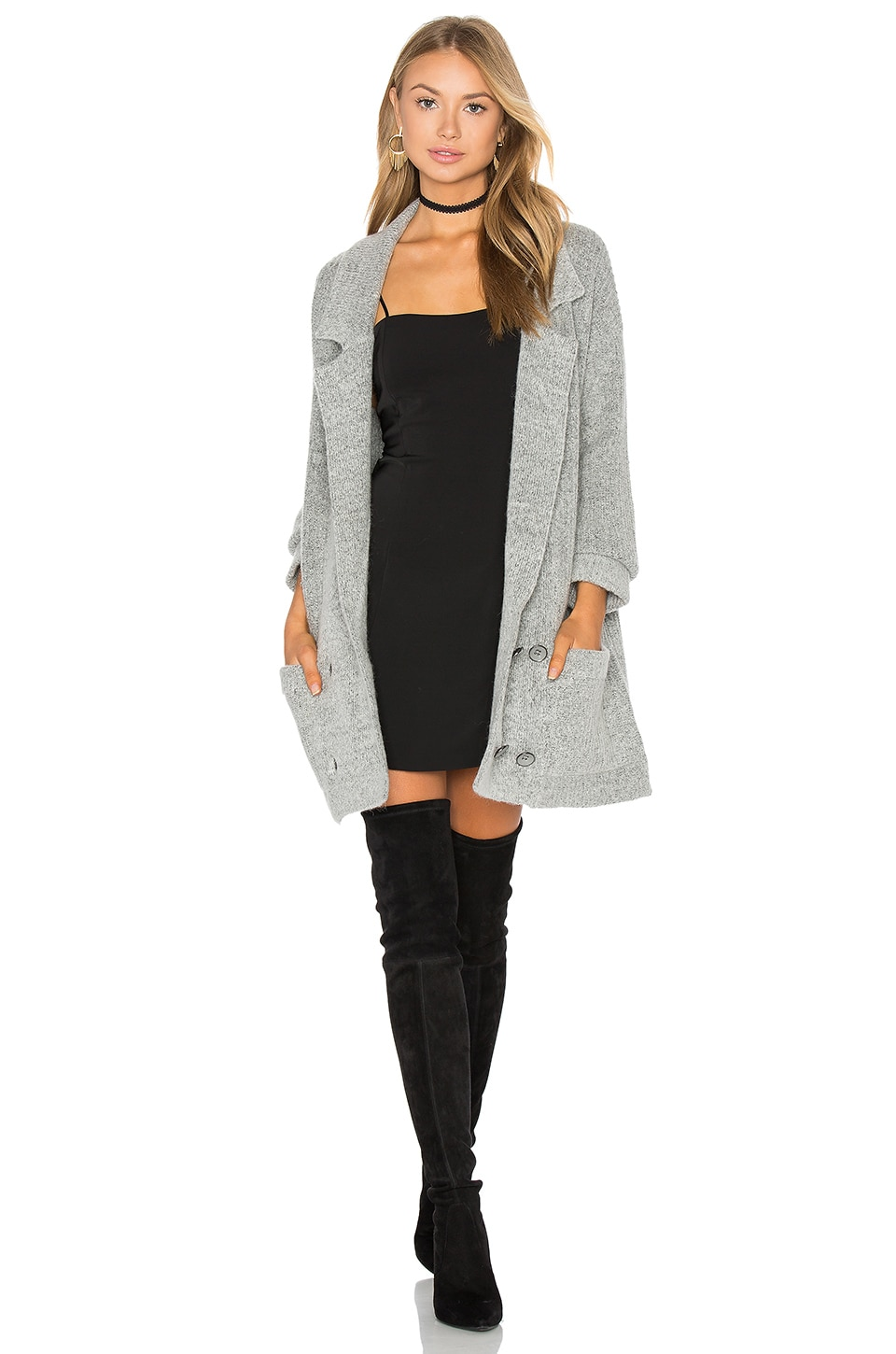 Knot Sisters El Captin Sweater Coat in Heather Grey