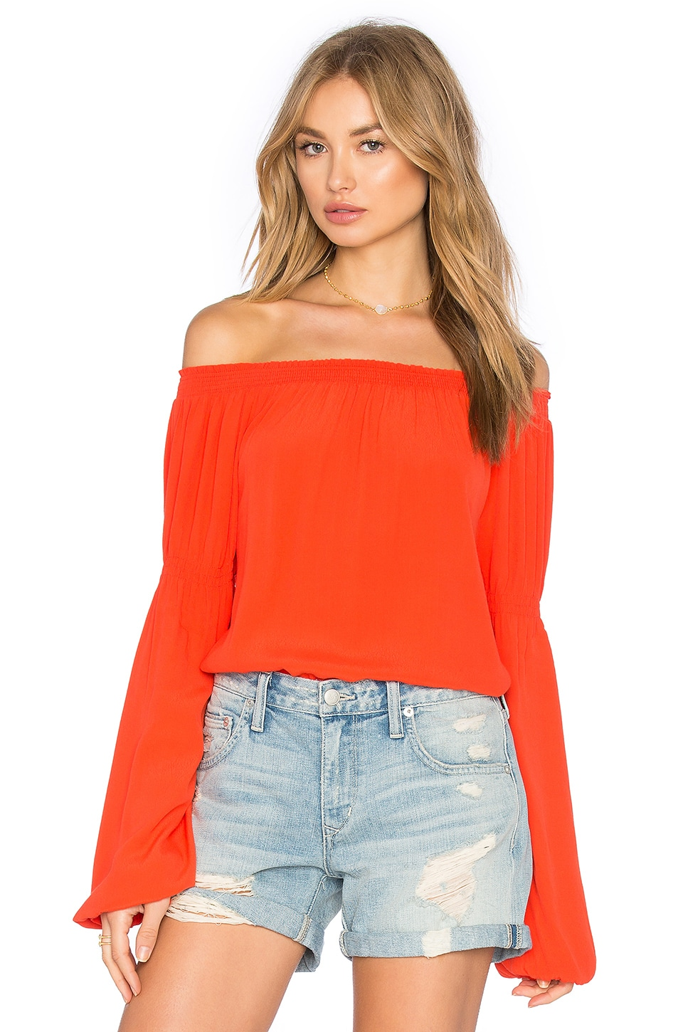 Knot Sisters Atlanta Top in Blood Orange