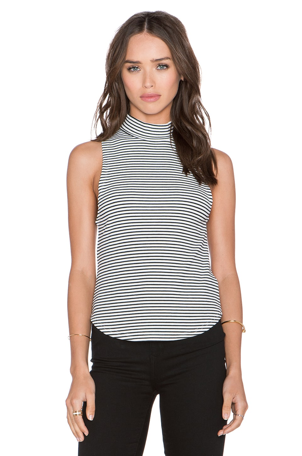 Knot Sisters Teressa Tank in Black & White Stripe