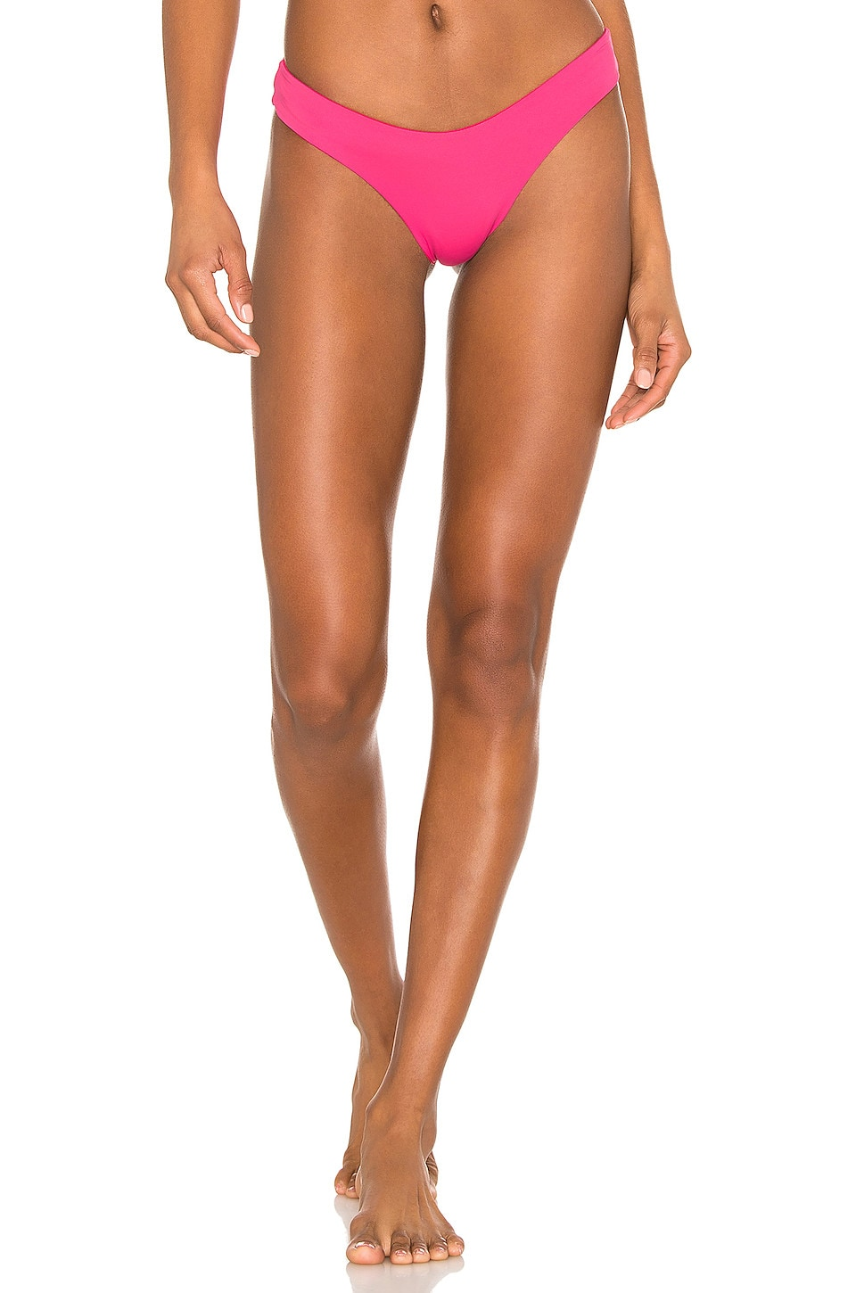 KYA Catalina Reversible Bikini Bottom in Rouge & Hot Pink