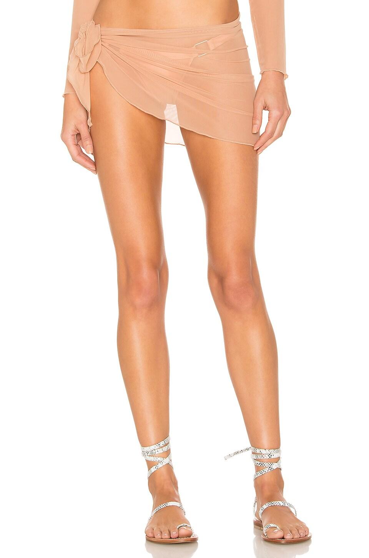 KAOHS Alexa Wrap Skirt in Honey Mesh