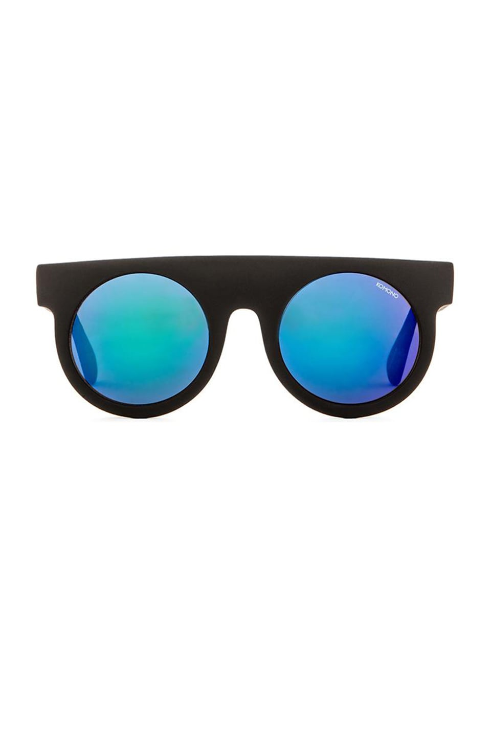 Komono The Mirror Series Hippolyte in Black Rubber & Blue Mirror