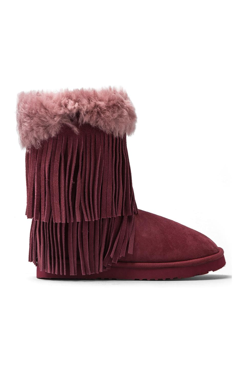 Koolaburra Haley II Boots with Twinface Sheepskin in Tawny Port