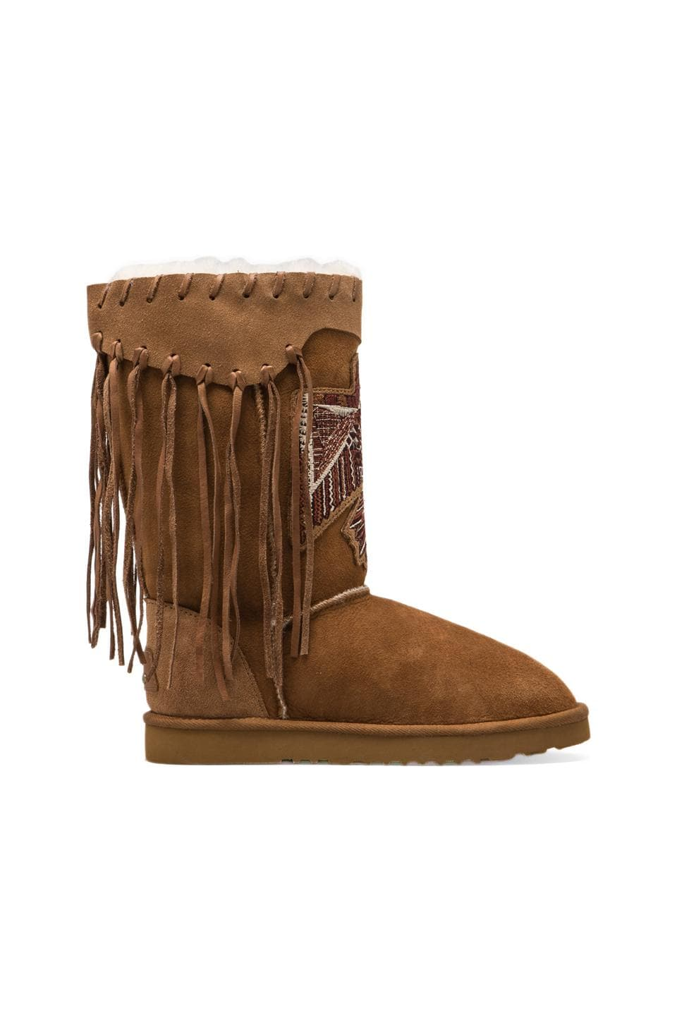 Koolaburra x Lauren Moshi Thunderbird Boot with Twinface Sheepskin in Chestnut