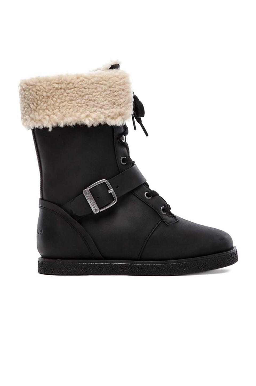 Koolaburra Jovi Boot with Fur in Black