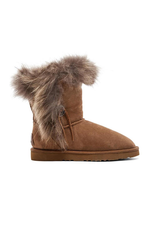 Koolaburra Trishka Short Fur Boot in Chestnut