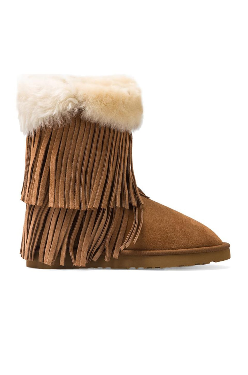 Koolaburra Haley II Boots with Twinface Sheepskin in Chestnut