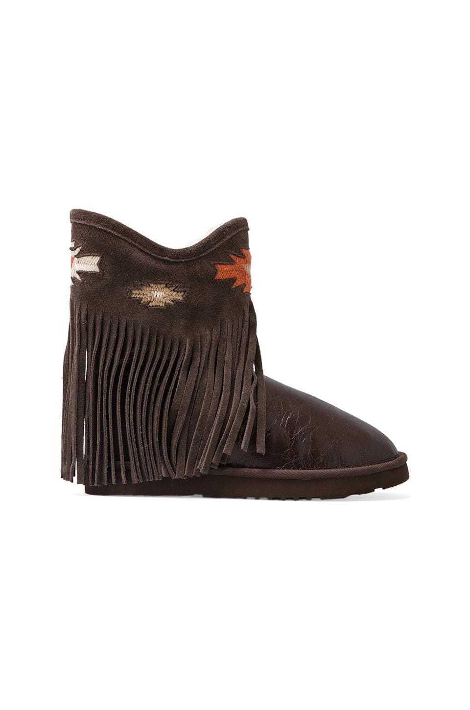 Koolaburra Haley Ankle Deco Boot with Twinface Sheepskin in Cappuchino