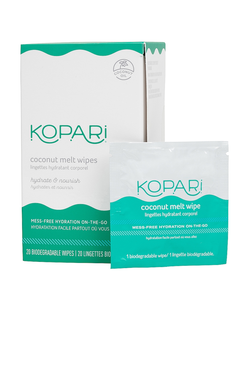 Kopari Coconut Melt Wipes
