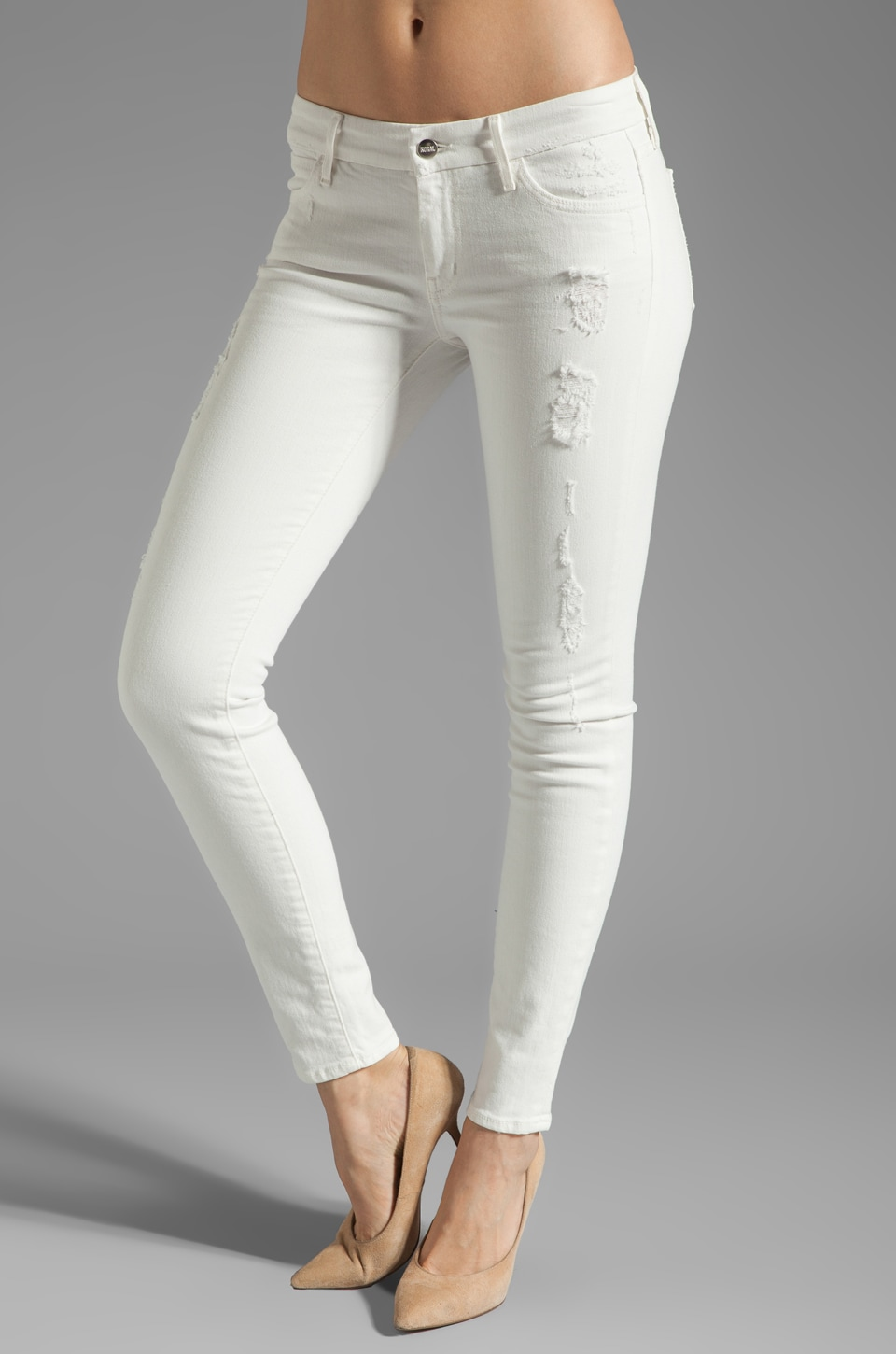 Koral Japanese Denim Skinny in Destroyed White