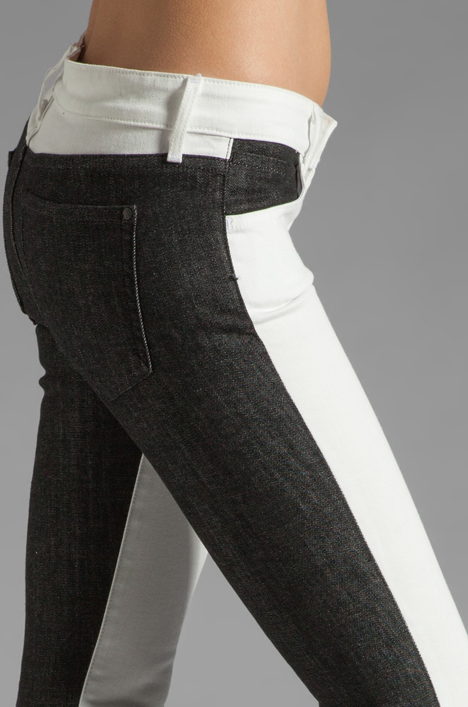 Koral Color Block Skinny in White/Black